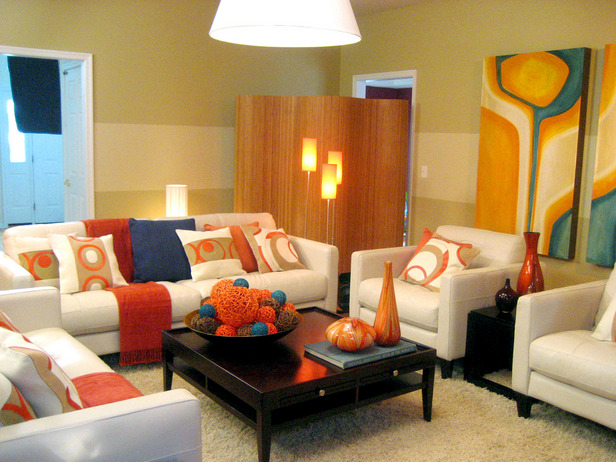 Green Orange White. A Warm And Striking Room ... Part 68