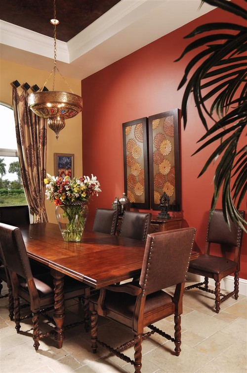 Red theme dining