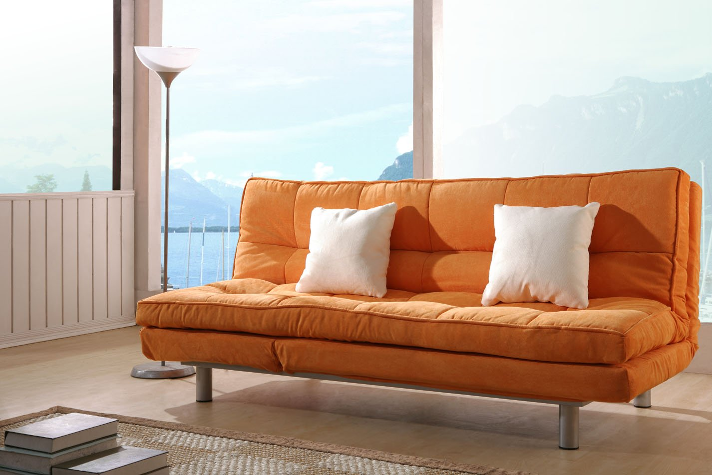 These Sleek Sofas Can Be Bent Back To Make A Flat Bed, Most Suited For  Single Person Usage.
