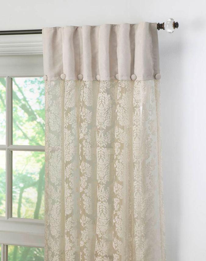 2 materials curtain