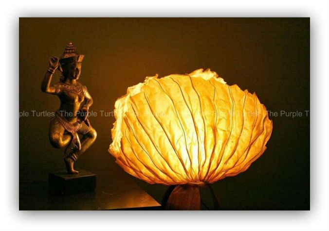 Banana paper_sea shell paper lamp