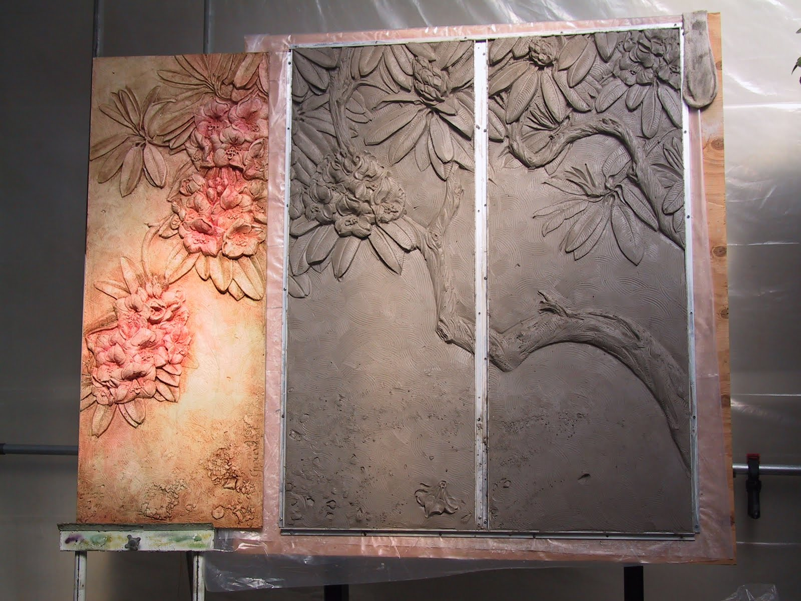 Claypanel for 3d clay mural painting