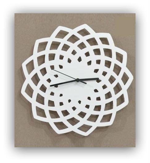 Geometric white pattern wall clock