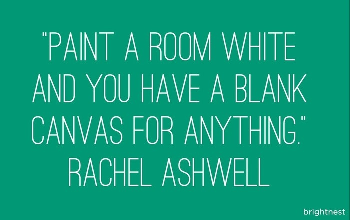 paint a room white and you have a canvas for anything