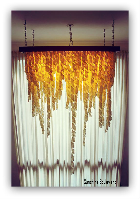 Paper style ceiling lamp