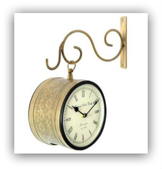 Railway Clock Brass