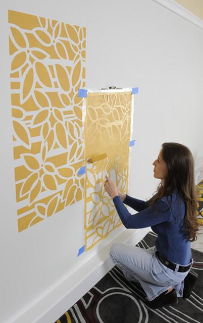 stencil art panels_houzz