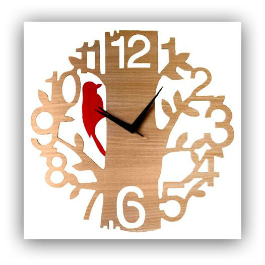 stylised numerals clock