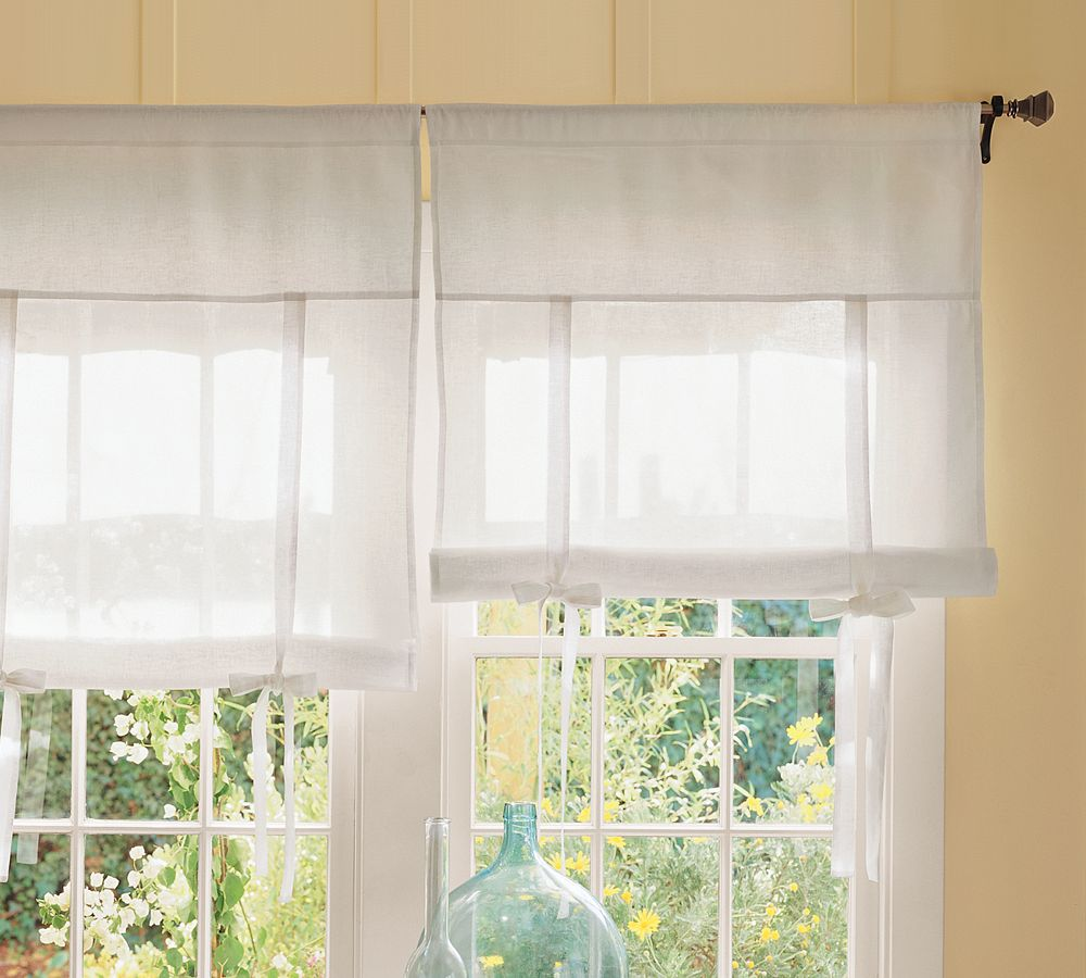 How to make roll up curtains - Tie Up Shade
