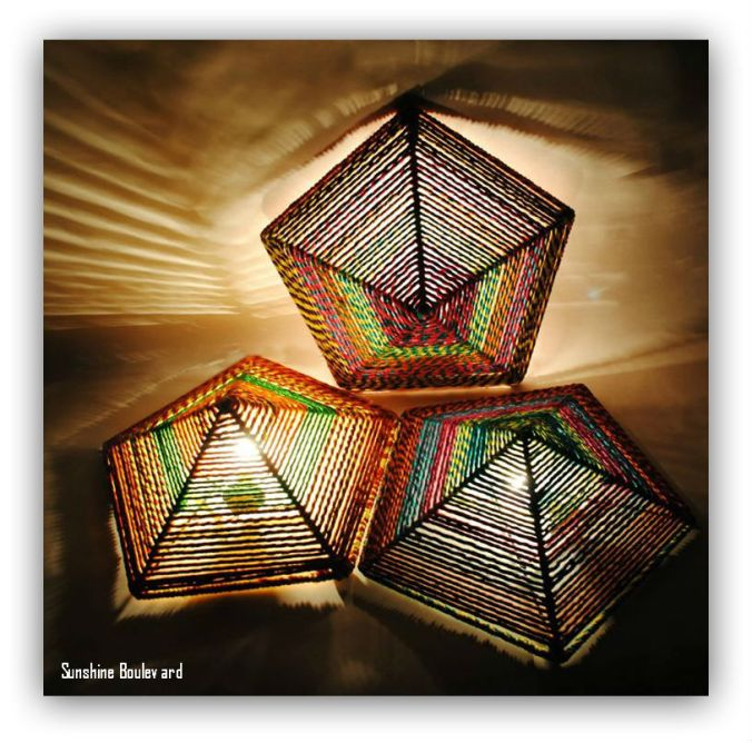 Wall Mounted unique string lamp
