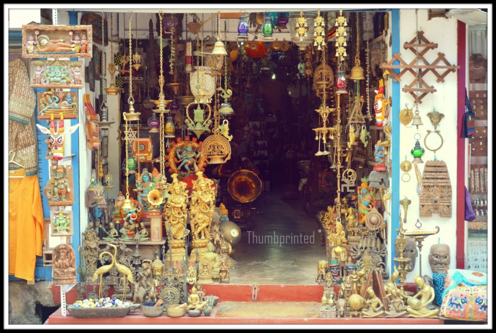 a typical shop at jew town