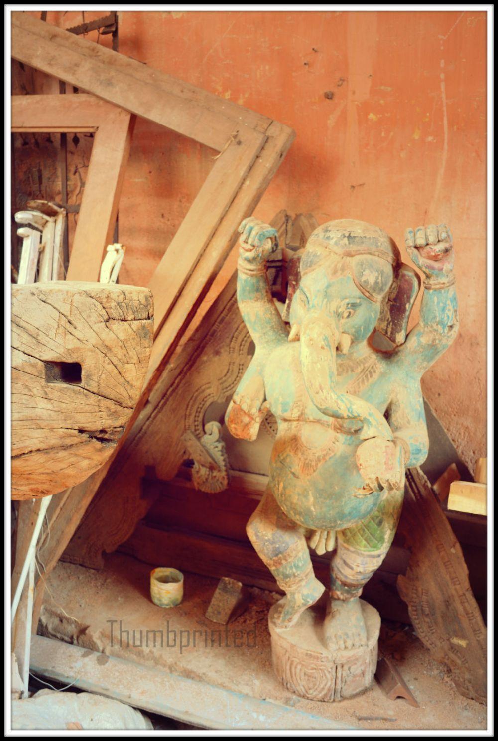 antique lord ganesh